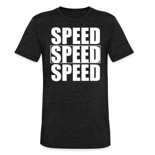 SPEED Mens MOTORSPORT Hoodie and Tee - Unisex Tri-Blend T-Shirt by Bella & Canvas