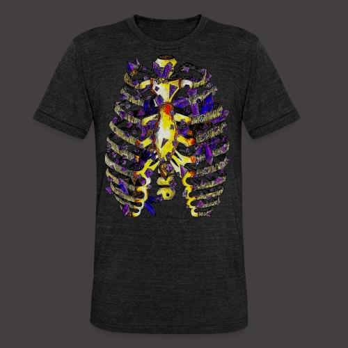 La Cage Thoracique de Cristal Creepy - T-shirt chiné Bella + Canvas Unisexe