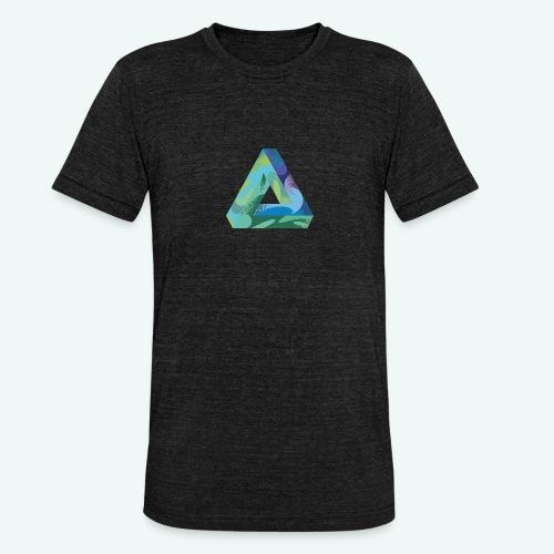 psychedlic triangle - Unisex Tri-Blend T-Shirt von Bella + Canvas