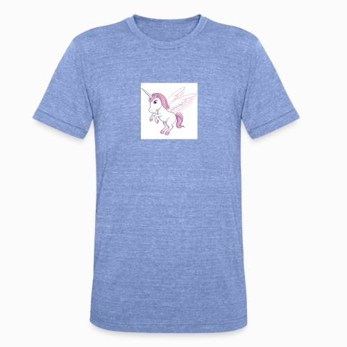 Petite licorne rose super mignonne!! - T-shirt chiné Bella + Canvas Unisexe