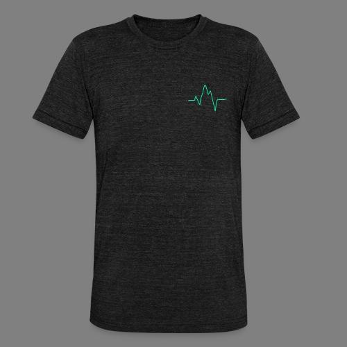 Wave zig - Unisex Tri-Blend T-Shirt von Bella + Canvas