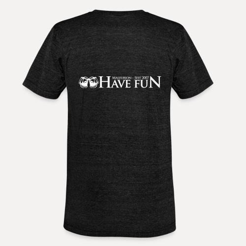 Logo Have Fun Malfurion - Unisex Tri-Blend T-Shirt von Bella + Canvas