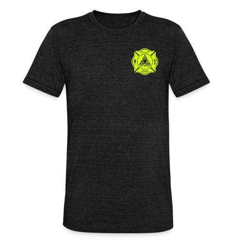 Feuerwehr ABC Einheit - Brust- Rücken- Ärmeldruck - Unisex Tri-Blend T-Shirt von Bella + Canvas