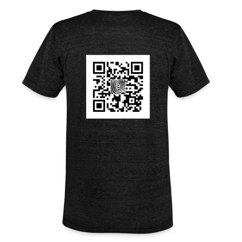 QR Code Want a free belly - Unisex tri-blend T-shirt van Bella + Canvas
