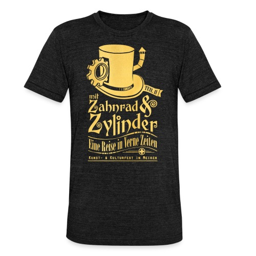 ZuZ 2018 + Brust- & Rückenmotiv - Unisex Tri-Blend T-Shirt von Bella + Canvas