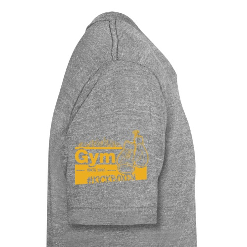 Gym Druckfarbe Orange - Unisex Tri-Blend T-Shirt von Bella + Canvas