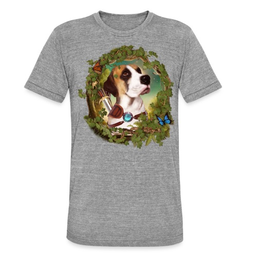 Fantasy Dog - Maglietta unisex tri-blend di Bella + Canvas