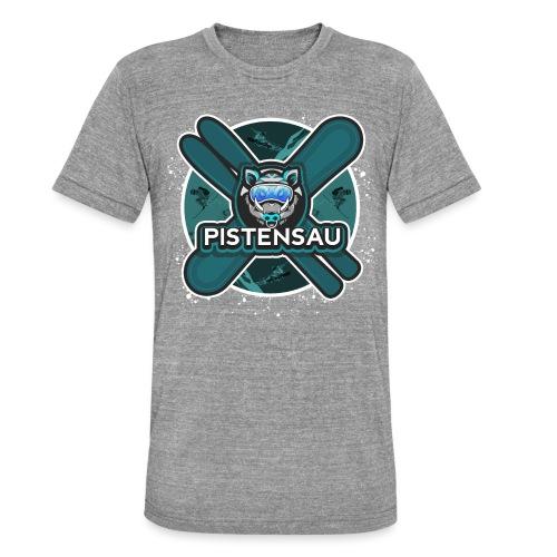 PistenSau Nervenkitzeljägergrün - Unisex Tri-Blend T-Shirt von Bella + Canvas