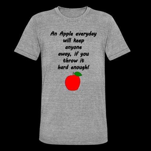Apple Apfel Doctor Zitat Spruch Lustig - Unisex Tri-Blend T-Shirt von Bella + Canvas