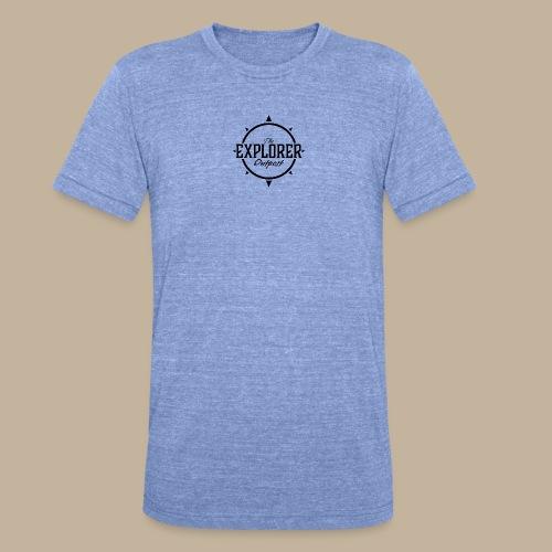 Black TEO Logo - Unisex Tri-Blend T-Shirt by Bella & Canvas