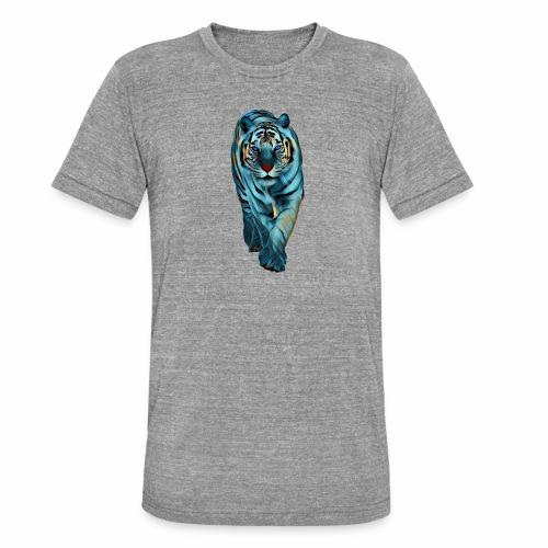 Tigre Caminando MEDIANO - Camiseta Tri-Blend unisex de Bella + Canvas