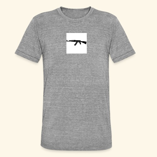 AK 47 Tee - Only White - Maglietta unisex tri-blend di Bella + Canvas