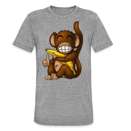 Super Fröhlicher Affe - Unisex Tri-Blend T-Shirt von Bella + Canvas