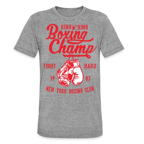 T-Shirt Boxeur Vintage rouge - T-shirt chiné Bella + Canvas Unisexe