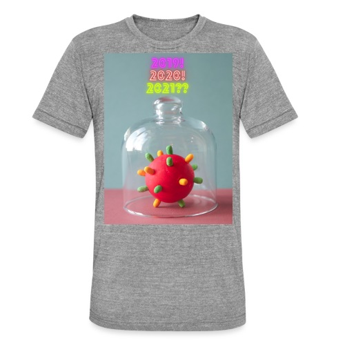 corona style hope mystery - Unisex tri-blend T-shirt van Bella + Canvas