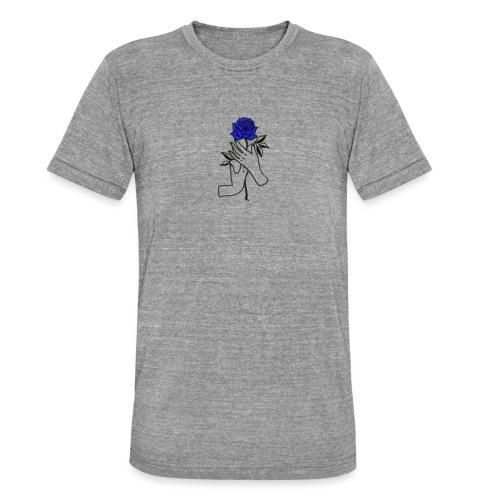 Fiore blu - Maglietta unisex tri-blend di Bella + Canvas