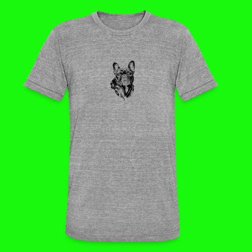 Small_Dog-_-_Bryst_- - Unisex tri-blend T-shirt fra Bella + Canvas