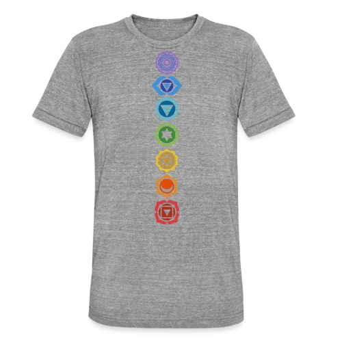 The 7 Chakras, Energy Centres Of The Body - Unisex Tri-Blend T-Shirt by Bella & Canvas