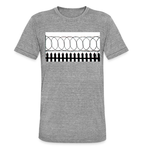 barbed wire - Unisex Tri-Blend T-Shirt by Bella & Canvas