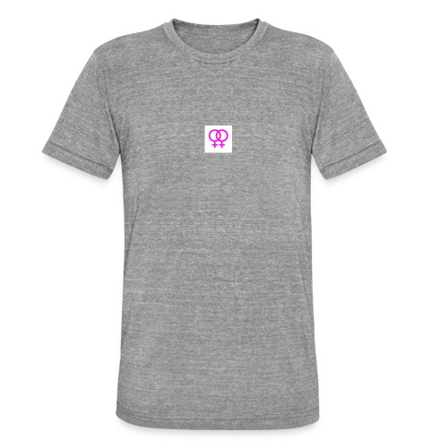lesbian logo - T-shirt chiné Bella + Canvas Unisexe