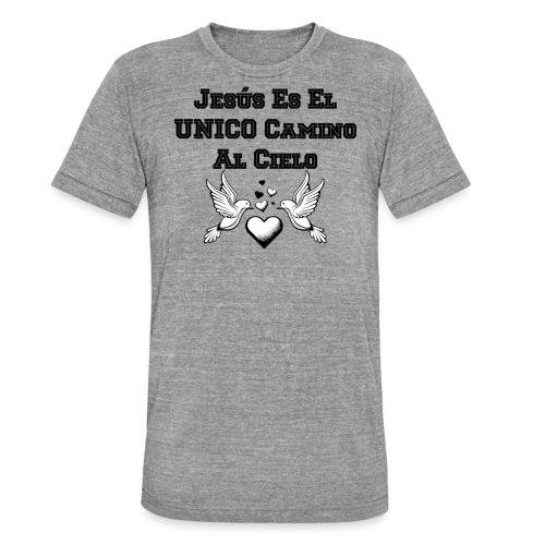 Jesus Unico camino al cielo - Camiseta Tri-Blend unisex de Bella + Canvas