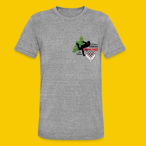 BOWLING ASCEE40 - T-shirt chiné Bella + Canvas Unisexe
