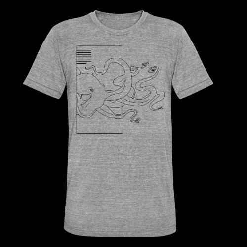 Tintenfisch-Logo Schwarz - Unisex Tri-Blend T-Shirt von Bella + Canvas