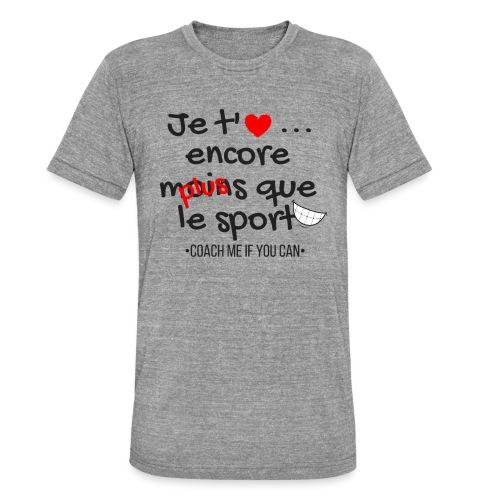 Saint Valentin - T-shirt chiné Bella + Canvas Unisexe