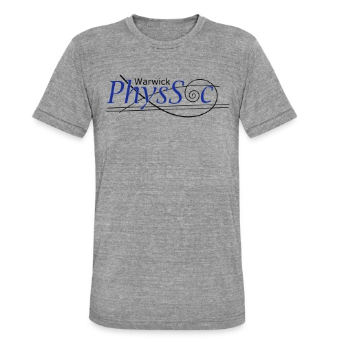 Official Warwick PhysSoc T Shirt - Unisex Tri-Blend T-Shirt by Bella & Canvas