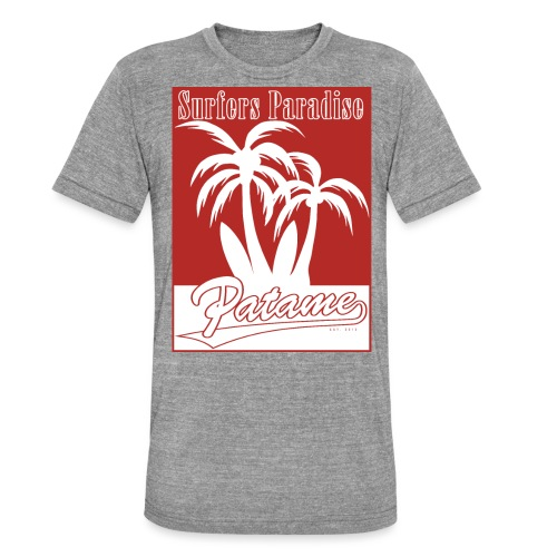 Patame Surfers Paradise Red - Unisex Tri-Blend T-Shirt von Bella + Canvas