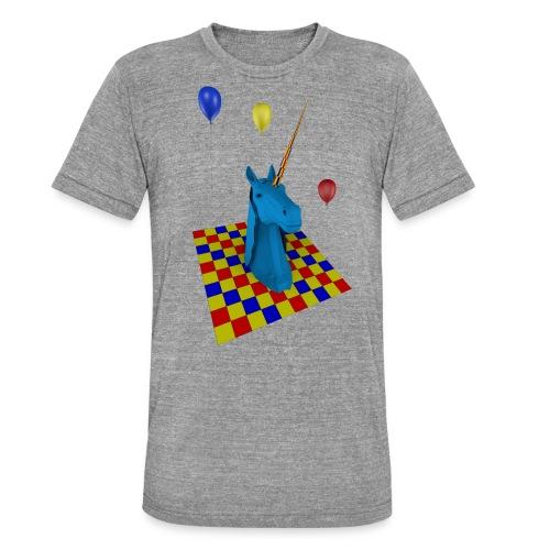 camiseta clasica hombre unicornio party - Camiseta Tri-Blend unisex de Bella + Canvas