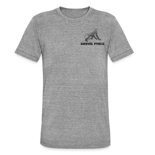 Survival Fitness Logo Schwarz - Unisex Tri-Blend T-Shirt von Bella + Canvas