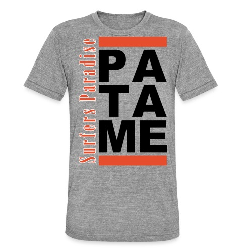 Patame Surfers Paradise Black - Unisex Tri-Blend T-Shirt von Bella + Canvas