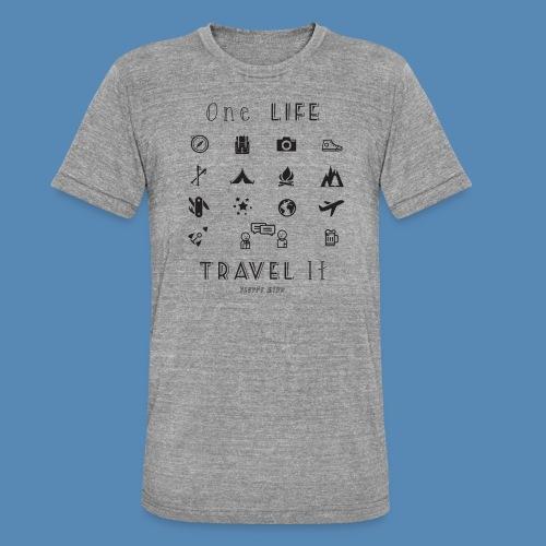 One Life, Travel It - T-shirt chiné Bella + Canvas Unisexe