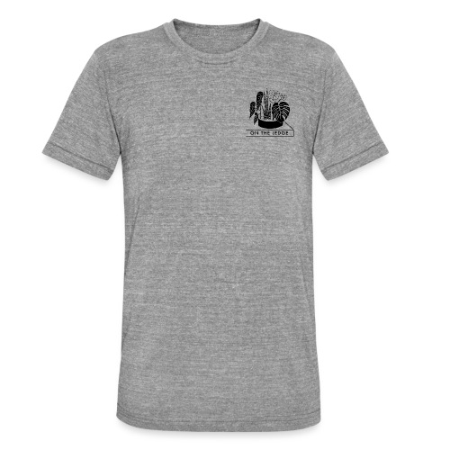 On The Ledge black and white logo - Unisex Tri-Blend T-Shirt by Bella + Canvas