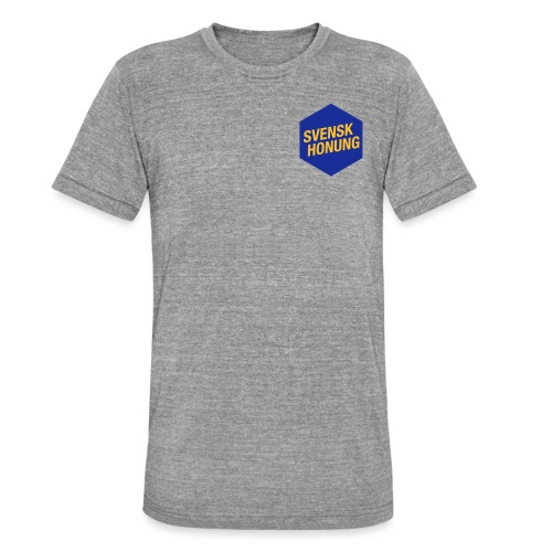 Svensk honung Hexagon Blå/Gul - Triblend-T-shirt unisex från Bella + Canvas