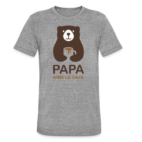 Papa aime le café - T-shirt chiné Bella + Canvas Unisexe