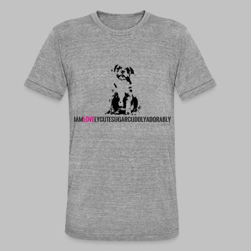 FRANZÖSISCHE BULLDOGE - WELPEN - LOVE - Unisex Tri-Blend T-Shirt von Bella + Canvas