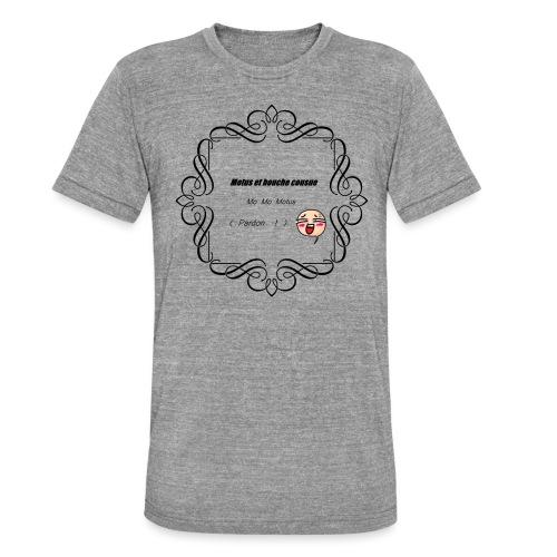 Motus et bouche cousue - T-shirt chiné Bella + Canvas Unisexe