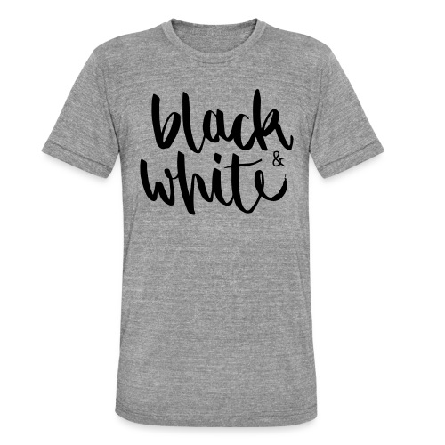 black&white1 - Unisex Tri-Blend T-Shirt von Bella + Canvas