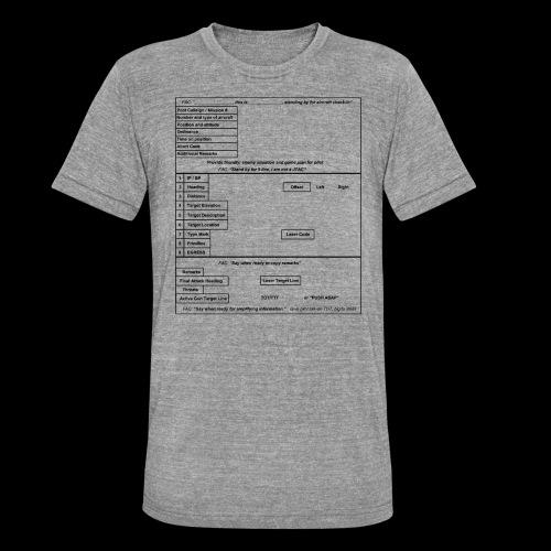 9-Line schwarz - Unisex Tri-Blend T-Shirt von Bella + Canvas