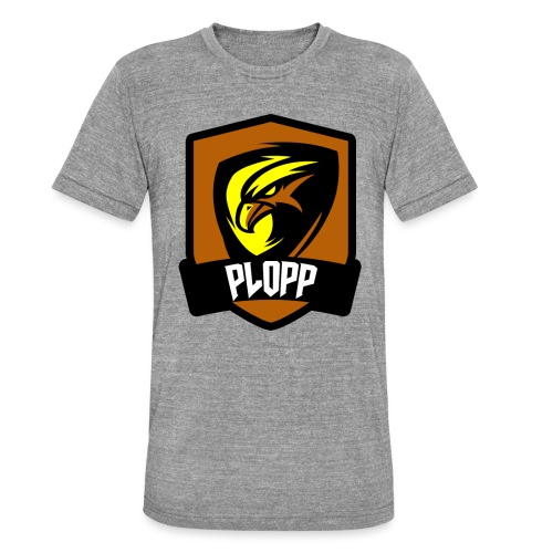 Plopp T-Shirt Emblem Vit - Triblend-T-shirt unisex från Bella + Canvas