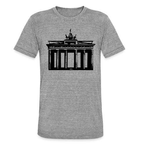 Brandenburger Tor - Unisex Tri-Blend T-Shirt von Bella + Canvas