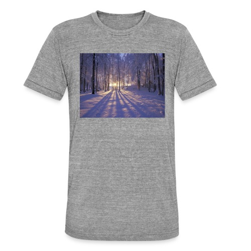 Wintercollectie - Unisex tri-blend T-shirt van Bella + Canvas