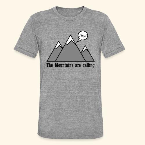 mountains calling - Unisex Tri-Blend T-Shirt von Bella + Canvas