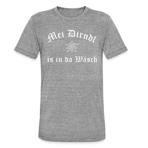 Mei Dirndl is in da Wäsch - Edelweiß - Unisex Tri-Blend T-Shirt von Bella + Canvas