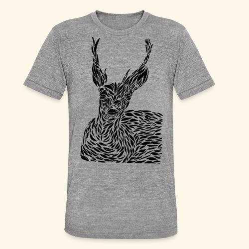 deer black and white - Bella + Canvasin unisex Tri-Blend t-paita.