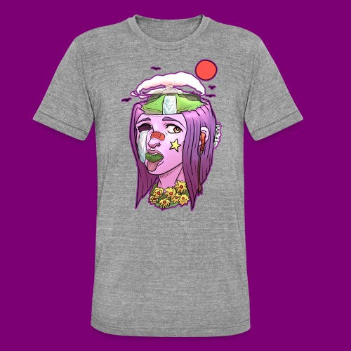 Pink Girl - Unisex tri-blend T-shirt van Bella + Canvas