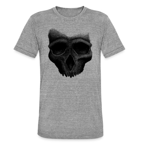 Simple Skull - T-shirt chiné Bella + Canvas Unisexe