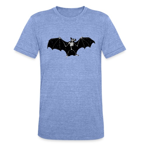 Bat skeleton #1 - Unisex Tri-Blend T-Shirt by Bella & Canvas